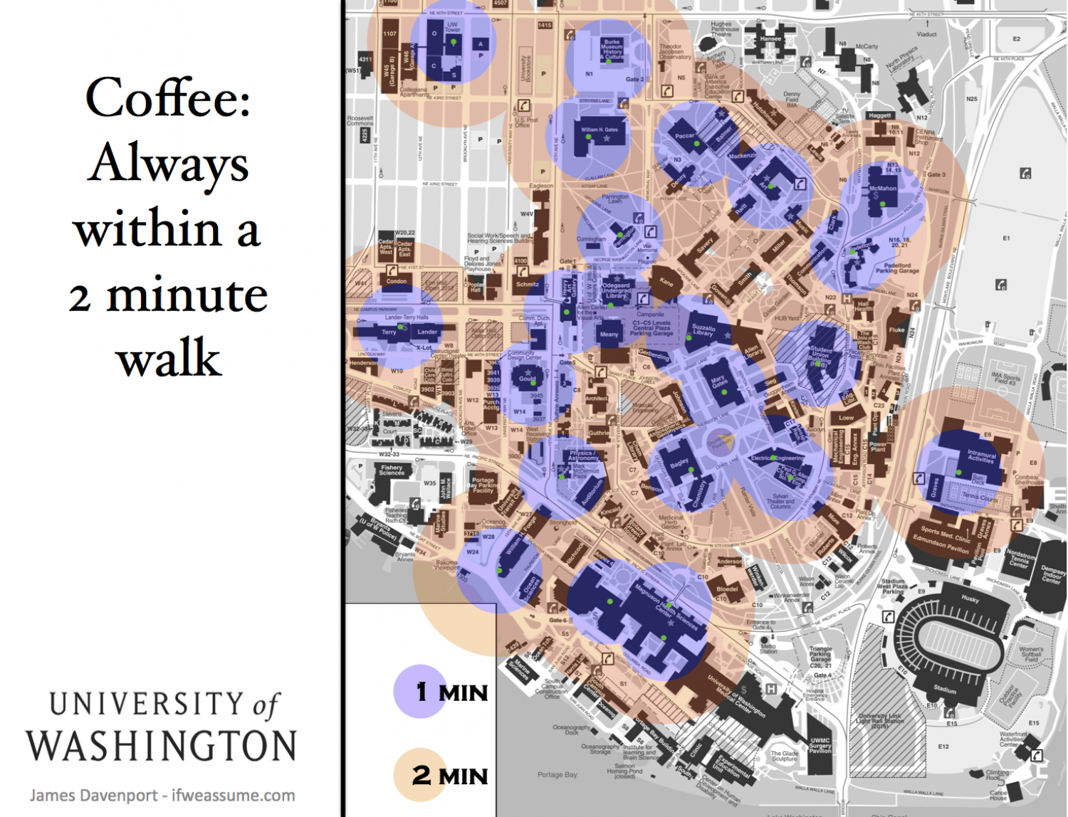 Coffee: 2 Min from Everywhere Infographic