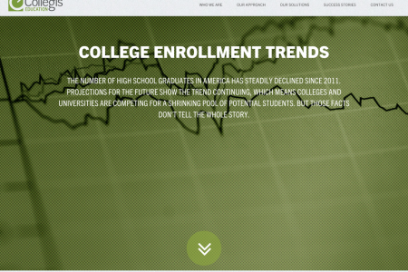 Collegis Education College Enrollment Trend Tool  Infographic