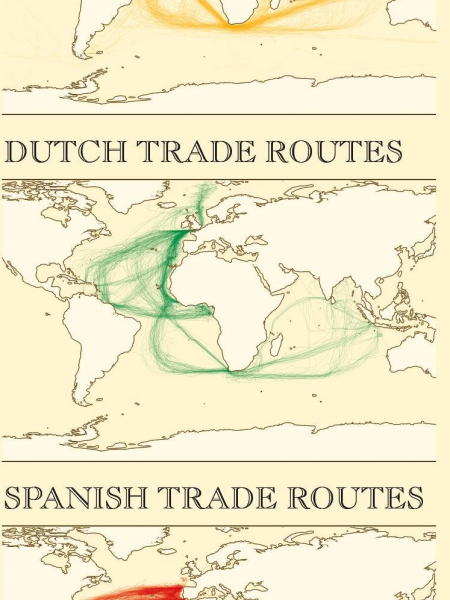 Colonial Europe Trade Routes 1750-1850 Infographic