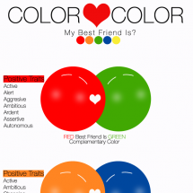 Color Hearts Color Infographic