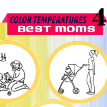 Color Temperatures For Best Moms: Mother's Day Special Infographic