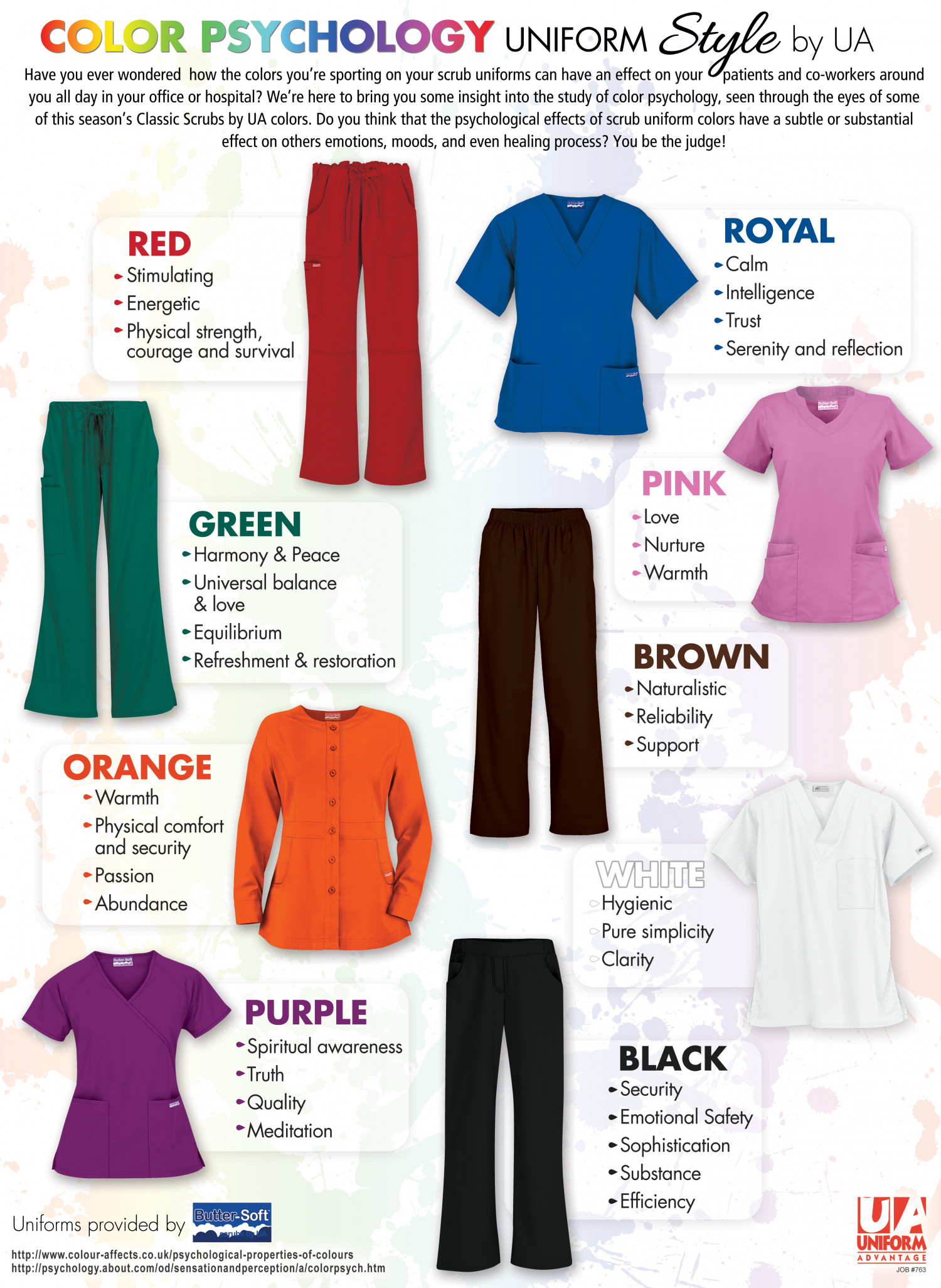 Color Therapy for your Medical Scrubs Wardrobe by Uniform Advantage Infographic