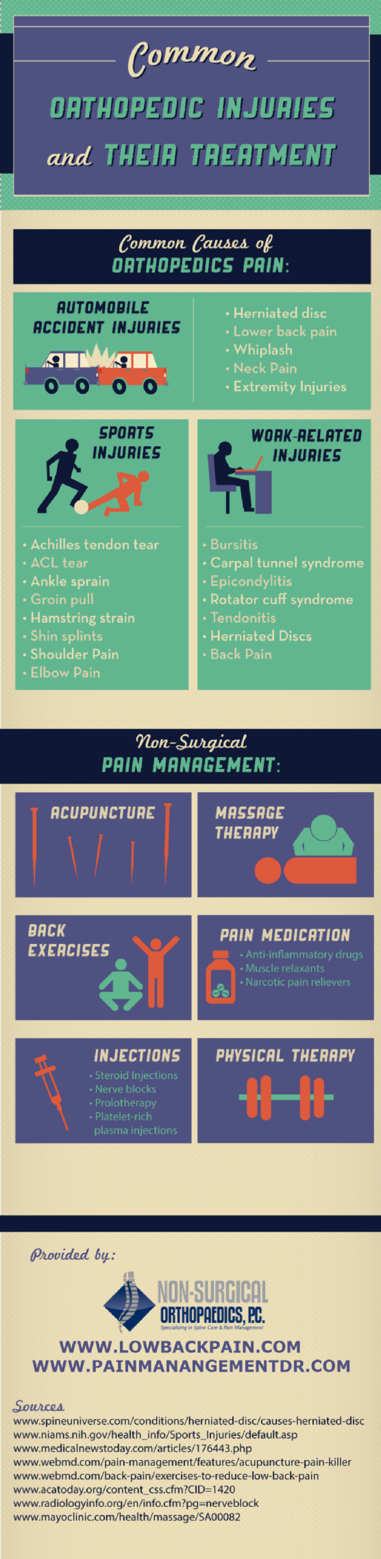 Common Orthopedic Injuries and Their Treatment  Infographic