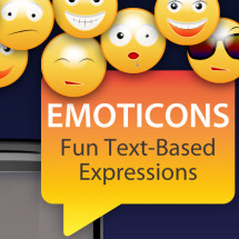 Commonly Used Emotions And Smileys Infographic