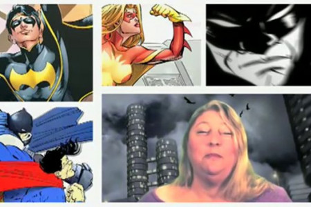 Communications Degree Associate Professor - Dr. Andrea Campbell on Superheroes Infographic