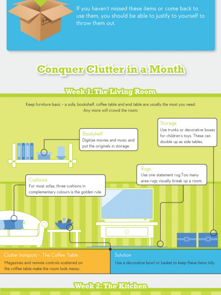 Conquer Clutter in a Month  Infographic