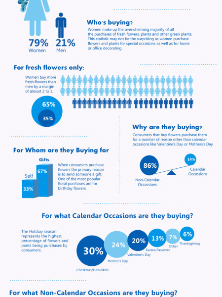 Consumer Trends Buying Flowers Infographic