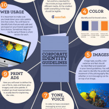 Corporate Identity Guidelines Infographic