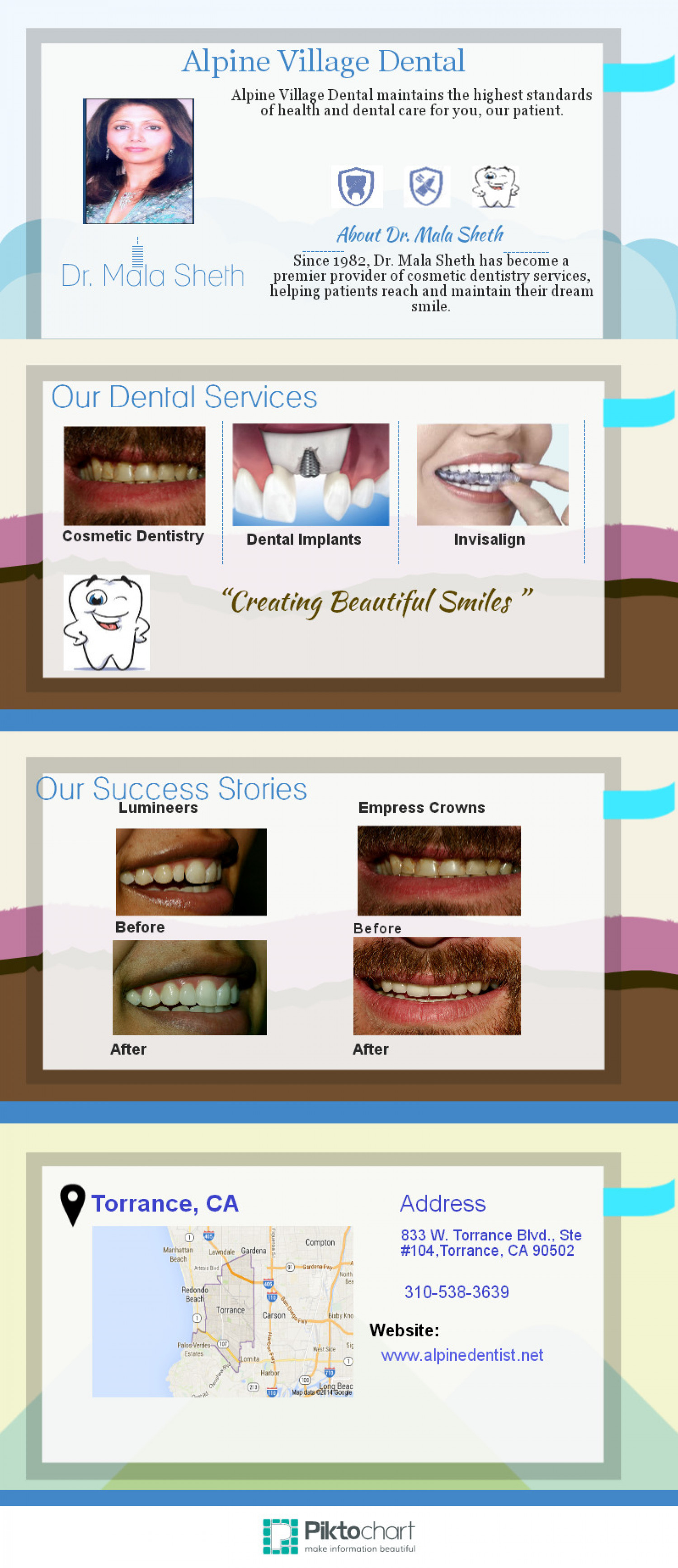 Alpine Village Dental Infographic