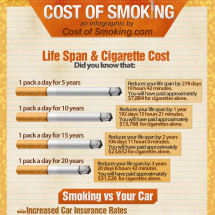 Cost of Smoking Infographic