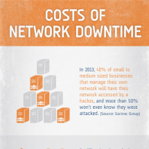 Costs of Network Downtime Infographic