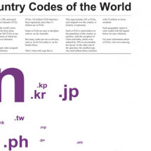 Country Codes of the World Infographic