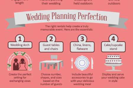 Creating a Perfect Wedding with Party Rentals Infographic