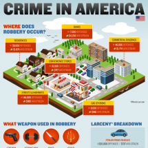 Crime Rates in America Infographic