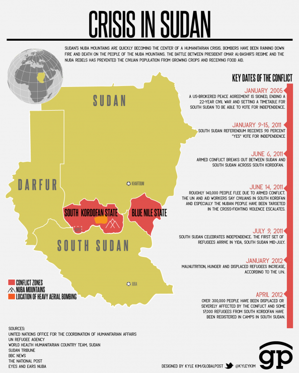Crisis in Sudan Infographic