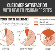 Customer Satisfaction with Health Insurance Sites Infographic