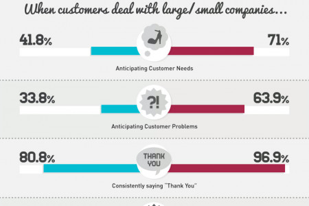 Customer Service Based On Company Size Infographic