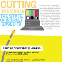 Cutting the Cable the State of Internet Based T.V  Infographic