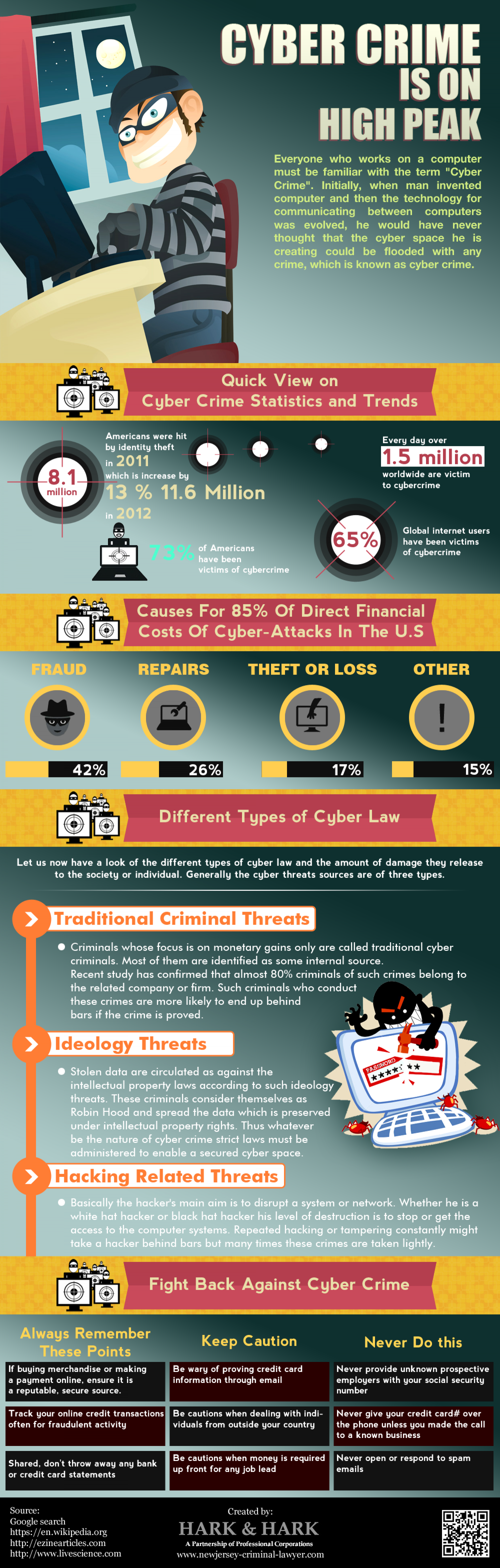 Cyber Crime Is On High Peak Infographic