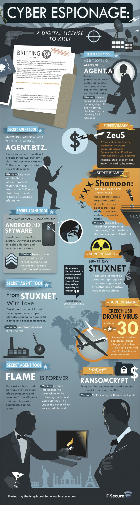 Cyber Espionage for Modern 007s Infographic
