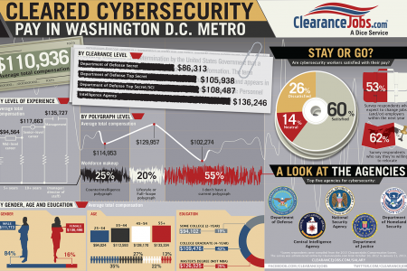Cybersecurity Salary in Washington, D.C. Metro Infographic