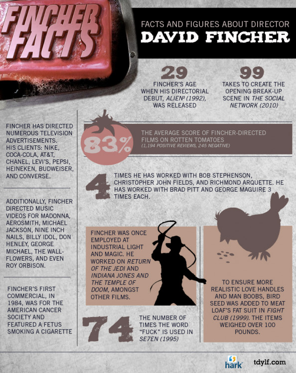 David Fincher: From Star Wars to Fight Club Infographic
