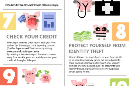David Lerner Associates : Review your 2014 financial resolutions Infographic