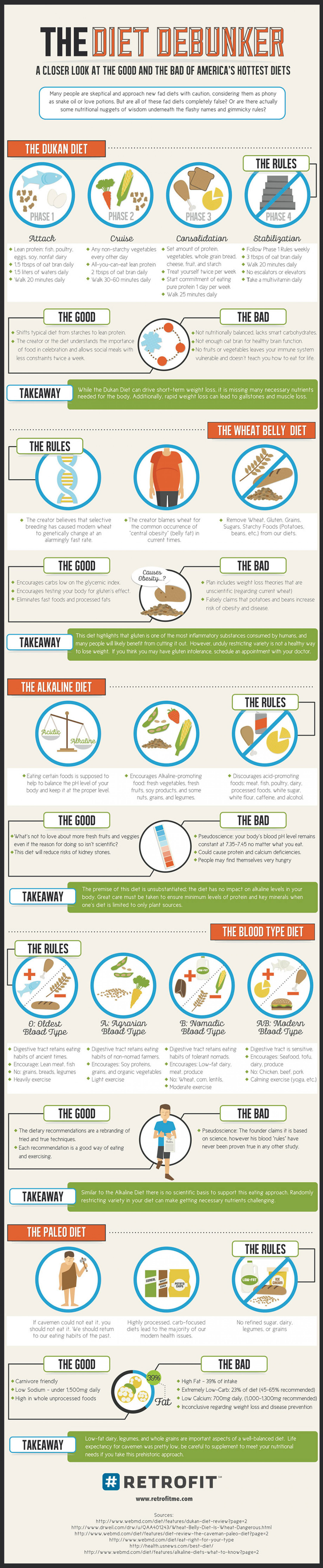 Debunking America's Diets Infographic