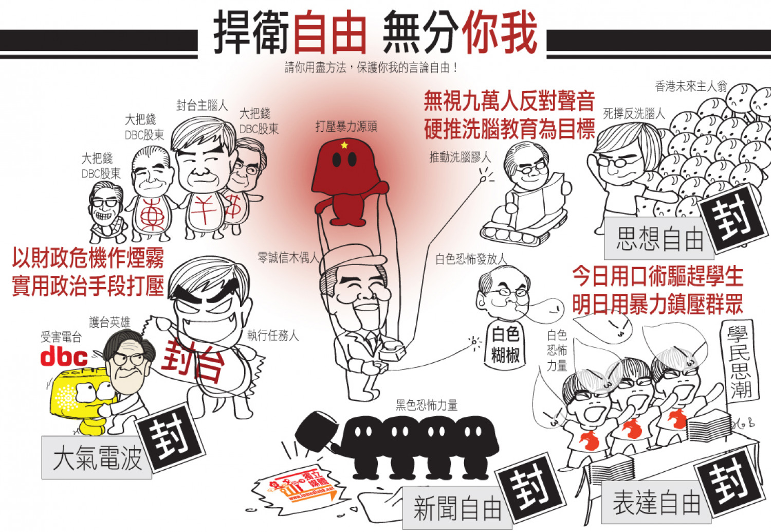 Democratic crisis in Hong Kong 2012 Infographic