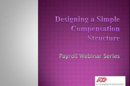 Designing a simple compensation salary structure Infographic