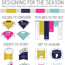 Designing for the Season Infographic
