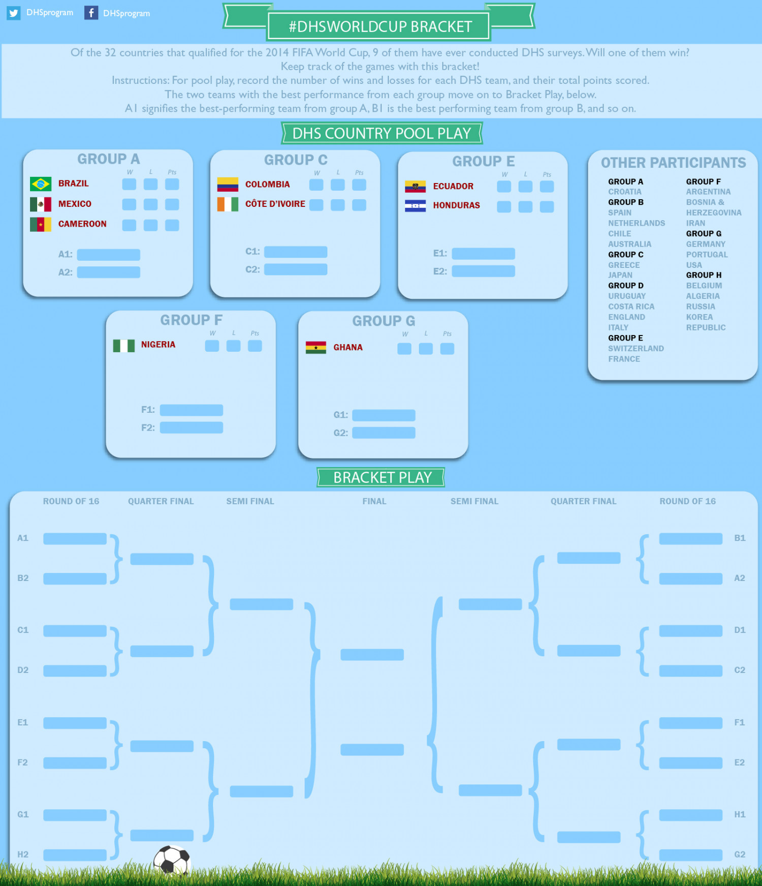 #DHSWorldCup Bracket Infographic
