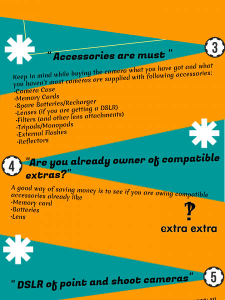 Digital camera buyers guide Infographic