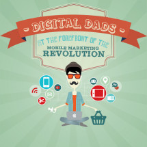 Digital Dads at the Forefront of the Mobile Marketing Revolution Infographic