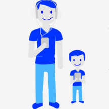 Digital Dads Survey for Father's Day Infographic