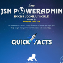 Discover how JSN PowerAdmin rocks Joomla! world Infographic