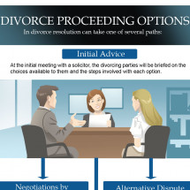 Divorce Procceding Options Infographic