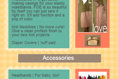 DIY Projects Using Fold Over Elastic Infographic