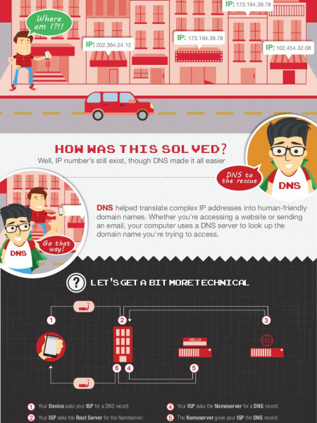 The Story Behind DNS  Infographic