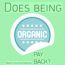 Does Being Organic Pay Back? Infographic