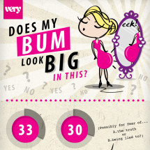 Does My Bum Look Big In This? Infographic