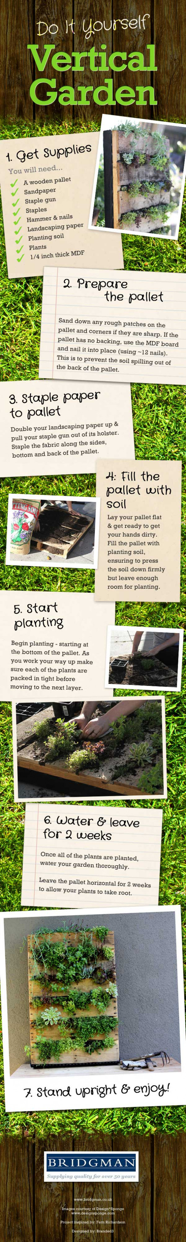 Do-it-yourself Vertical Garden Infographic