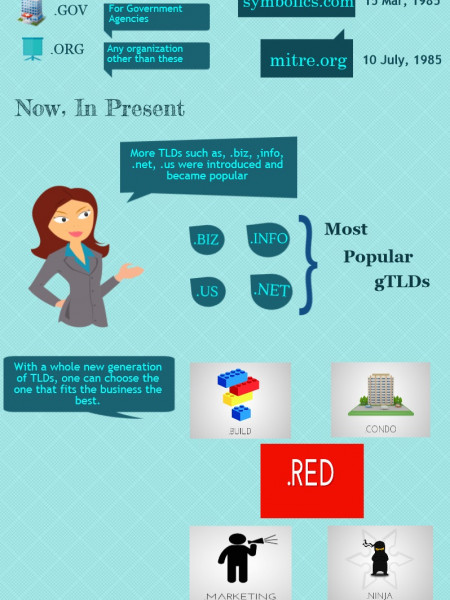 Domain Names:Then And Now Infographic