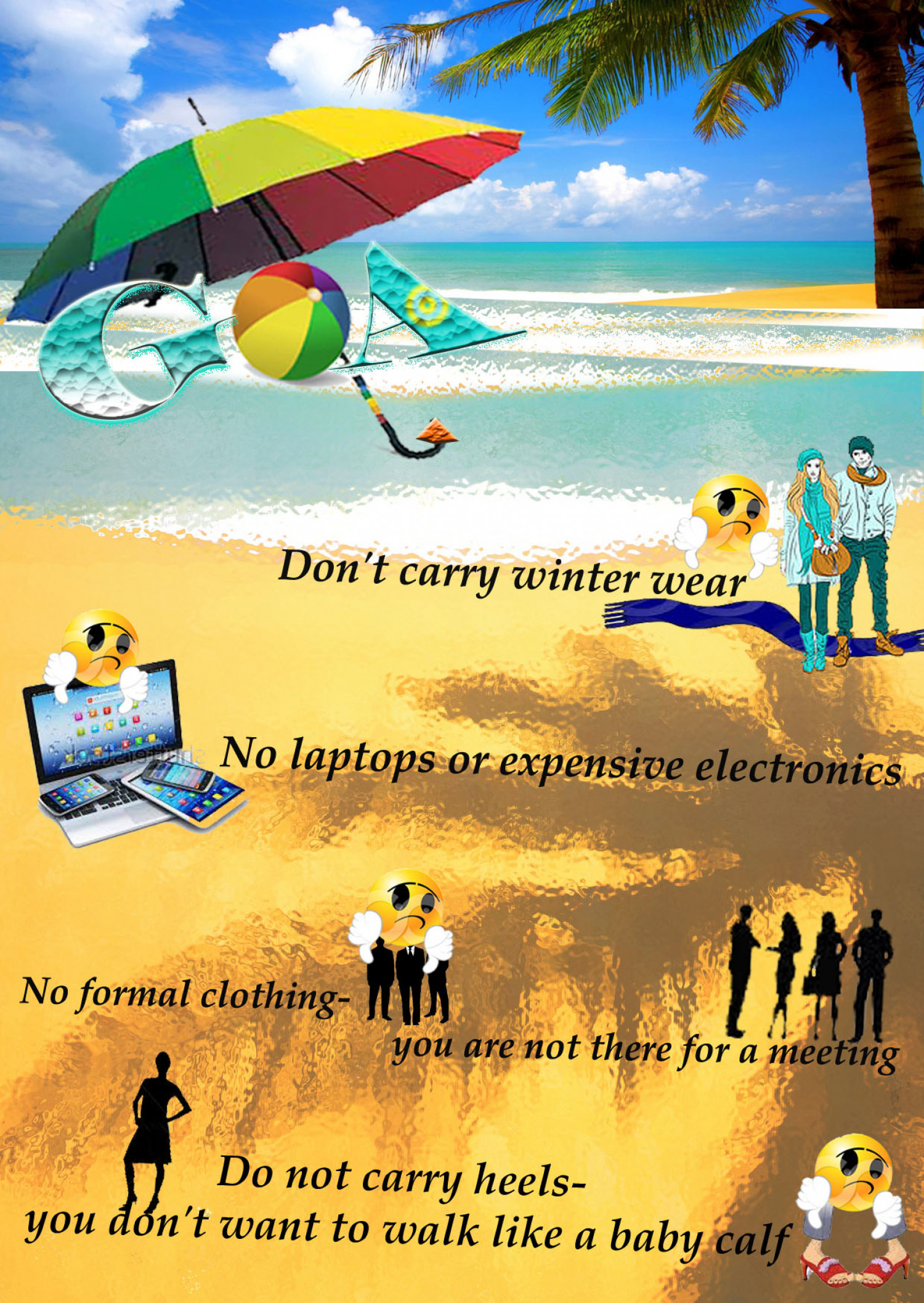 Don'ts While On A Holiday To Goa Infographic