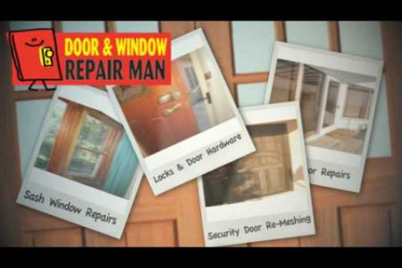 Door and Window Repair Man Infographic