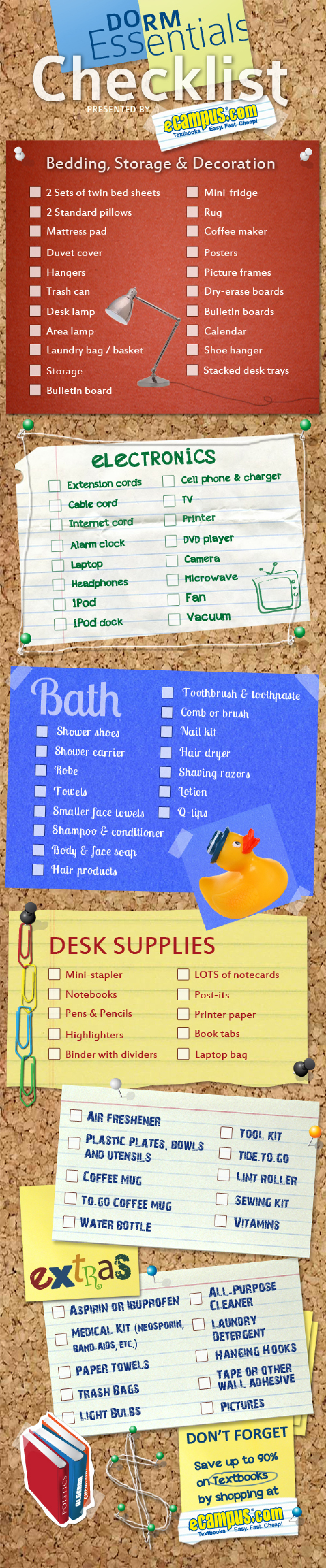 Dorm Essentials Checklist Infographic