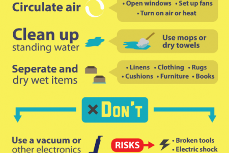 Dos and Don'ts of Water Damage Infographic