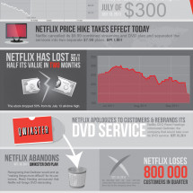 Downfall of Netflix Infographic