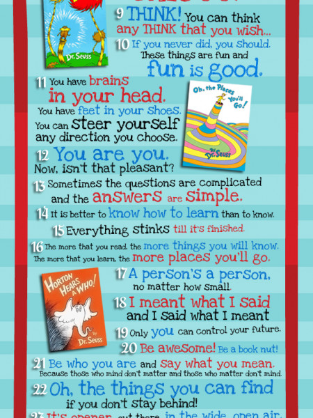 Dr Seuss Words of Wisdom Infographic
