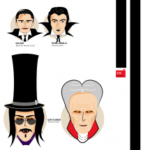 Dracula a escena Infographic